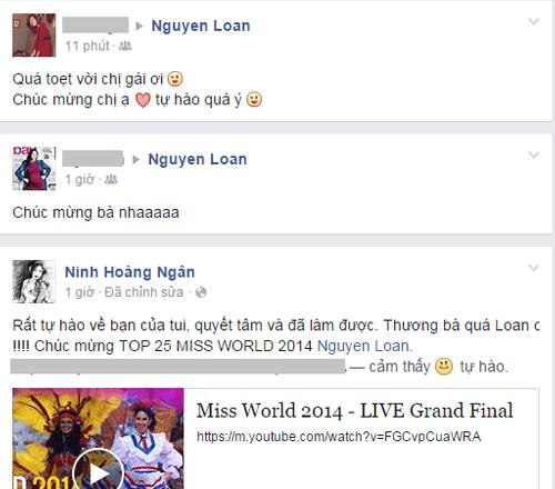 Cộng đồng mạng chúc mừng Nguyễn Thị Loan lọt Top 25 Hoa hậu thế giới - Ảnh 4