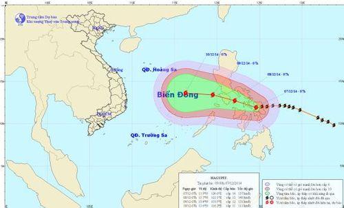Siêu bão Hagupit có thể đổi hướng di chuyển - Ảnh 1