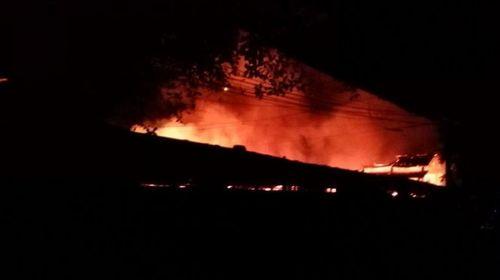 Toàn cảnh hiện trường vụ cháy chợ ở huyện Xín Mần, Hà Giang - Ảnh 1