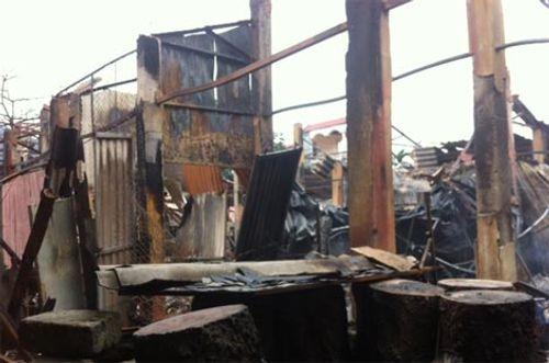 Toàn cảnh hiện trường vụ cháy chợ ở huyện Xín Mần, Hà Giang - Ảnh 3