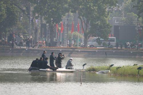 Rùa Hồ Gươm nổi lên phơi nắng trước thềm năm mới - Ảnh 2