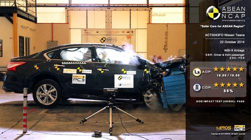 """Nissan Teana """"ăn"""" điểm 5 sao về an toàn từ NCAP Đông Nam Á - Ảnh 1"""