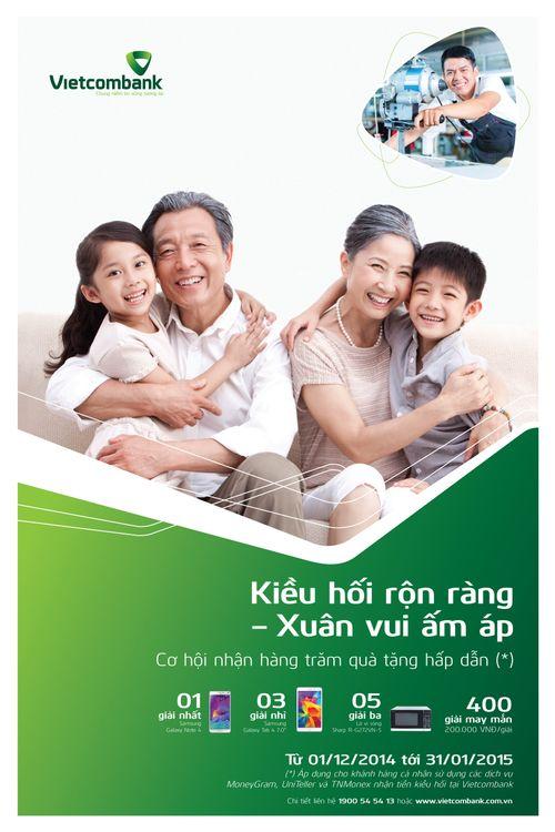 Vietcombank triển khai chương trình khuyến mãi dịp Tết - Ảnh 1