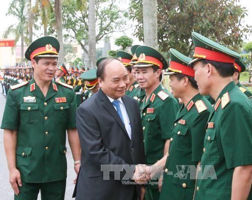 Thủ tướng làm việc tại Quân khu 3 - Ảnh 1