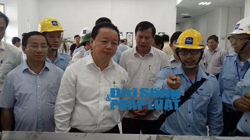 Bộ trưởng Bộ Tài nguyên Môi trường làm việc đột xuất với Formosa Hà Tĩnh - Ảnh 1