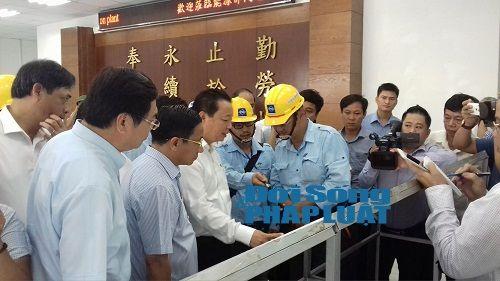 Bộ trưởng Trần Hồng Hà yêu cầu kiểm tra năng lực xử lí chất thải Formosa - Ảnh 1