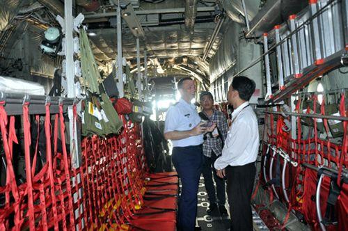 """Khám phá máy bay """"siêu tải"""" của Mỹ tại Đà Nẵng - Ảnh 3"""