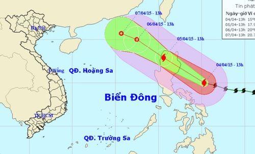 Tin bão Maysak: Siêu bão chuyển hướng vào biển Đông - Ảnh 1