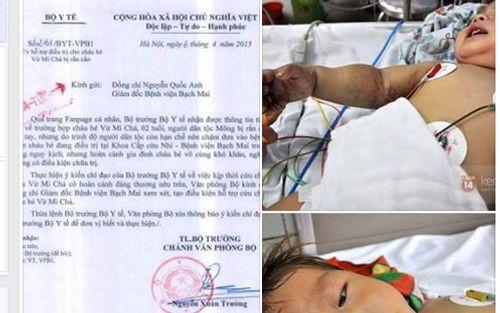 Bộ trưởng Bộ Y tế kêu gọi hỗ trợ bé 2 tuổi bị rắn cắn - Ảnh 1