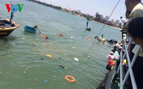 Bình Thuận: Tàu khách đâm chìm tàu cá, 6 thuyền viên rơi xuống biển - Ảnh 2