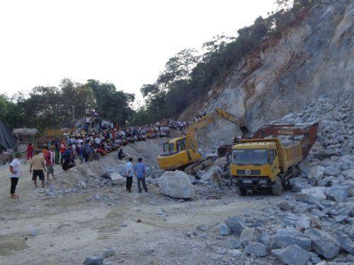 Hà Giang: Sập mỏ đá, 2 công nhân tử vong  - Ảnh 1