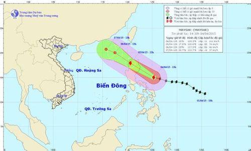 Bão Maysak gần biển Đông, Philippines sơ tán 24.000 người - Ảnh 1