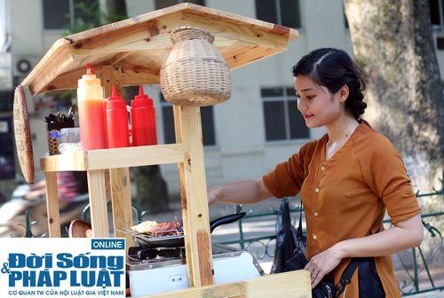 Cận cảnh nhan sắc cô gái Hà Nội bán bánh giò xinh đẹp như hotgirl - Ảnh 2