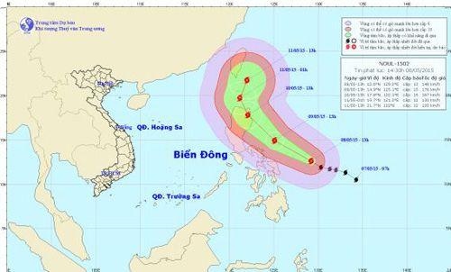 Xuất hiện bão rất mạnh trên biển phía Đông miền Trung Philippin - Ảnh 1