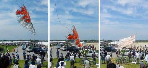 Diều 700 kg rơi xuống đám đông ở Nhật, 4 người bị thương - Ảnh 1