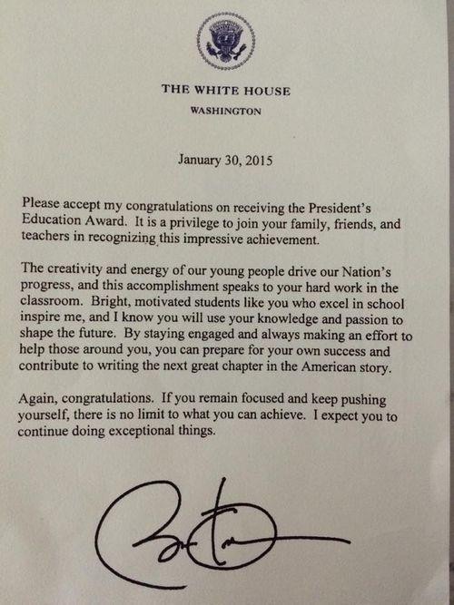 Tổng thống Obama viết gì trong thư chúc mừng gửi Đỗ Nhật Nam? - Ảnh 2