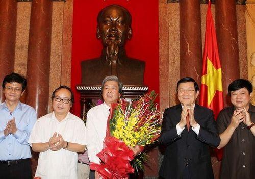 Chủ tịch nước gặp mặt đại diện các cơ quan báo chí cả nước - Ảnh 2