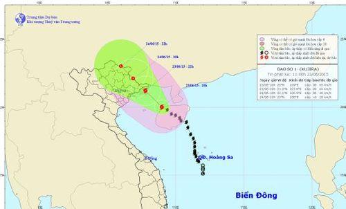 Cơn bão số 1 ảnh hưởng trực tiếp đến tỉnh Quảng Ninh - Ảnh 1