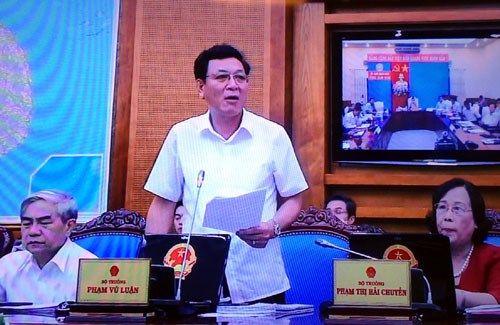 Kỳ thi THPT Quốc gia năm 2015: Bộ trưởng GD-ĐT báo cáo tình hình - Ảnh 1