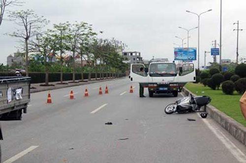 Bắt tài xế xe tải tông chết cảnh sát hình sự rồi bỏ trốn - Ảnh 1