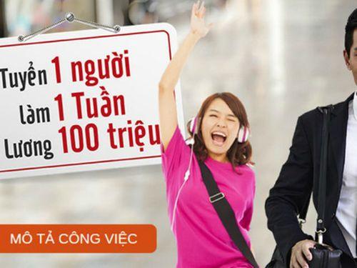 VPBank  tuyển nhân viên lương 100 triệu/tuần: Chỉ là chiêu trò PR gây sốc - Ảnh 1