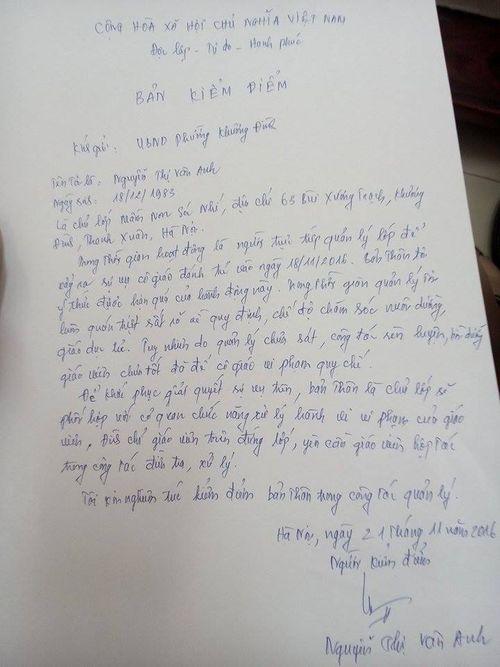 Vụ bé 18 tháng tuổi bị bạo hành: Phòng GD&ĐT lên tiếng - Ảnh 1