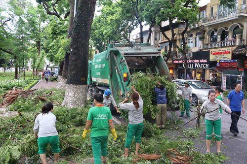 Hà Nội: 773 tấn rác được thu dọn sau cơn bão số 1 - Ảnh 1