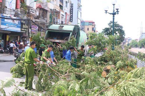Hà Nội: 773 tấn rác được thu dọn sau cơn bão số 1 - Ảnh 2