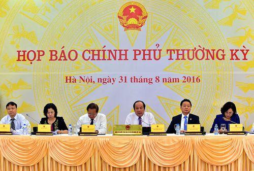 Nội dung họp báo Chính phủ thường kỳ tháng 8/2016 - Ảnh 1