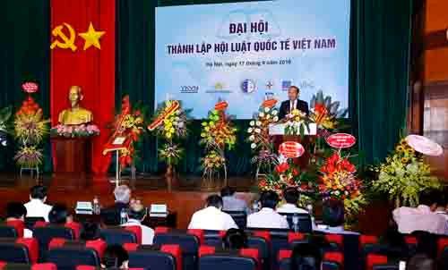 Phó Thủ tướng Trương Hòa Bình dự Đại hội thành lập Hội Luật quốc tế Việt Nam - Ảnh 2