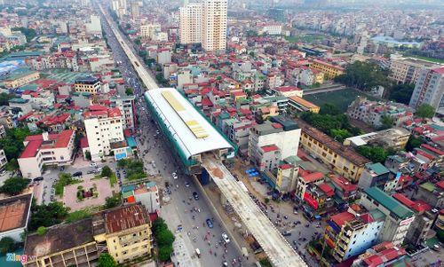 Lắp đặt ray tàu điện công trình đường sắt trên cao Cát Linh - Hà Đông - Ảnh 9