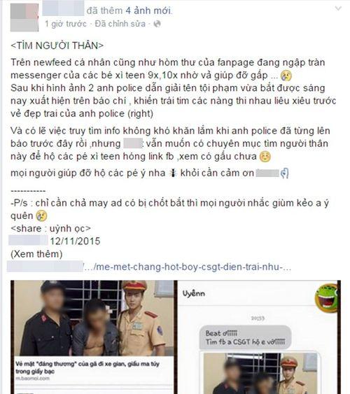 """""""Bấn loạn"""" trước chàng cảnh sát giao thông Việt """"đẹp hơn cả tài tử"""" - Ảnh 1"""