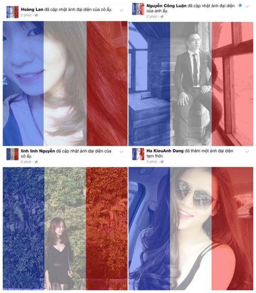 Dân mạng Việt đồng loạt thay avatar quốc kỳ Pháp sau vụ khủng bố - Ảnh 2