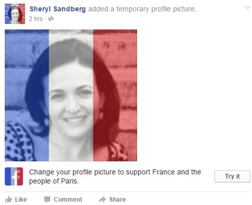 Dân mạng Việt đồng loạt thay avatar quốc kỳ Pháp sau vụ khủng bố - Ảnh 1