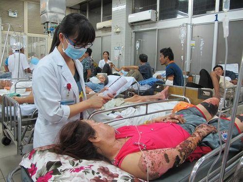 Đắp lá cây lạ chữa bỏng, một phụ nữ bị nhiễm trùng nặng - Ảnh 1