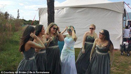 Bực mình vì bị hủy hôn, cô dâu phá hủy váy cưới - Ảnh 3