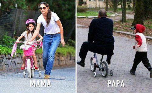 """Cười """"té ghế"""" sự khác biệt giữa cách trông con của bố và mẹ - Ảnh 4"""