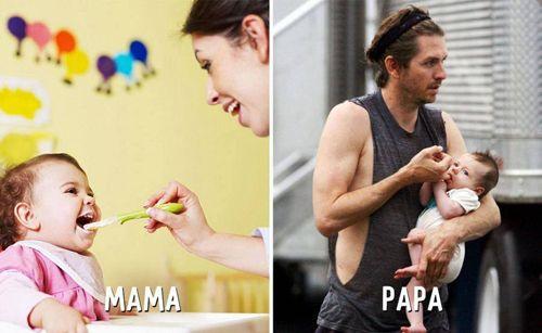 """Cười """"té ghế"""" sự khác biệt giữa cách trông con của bố và mẹ - Ảnh 5"""