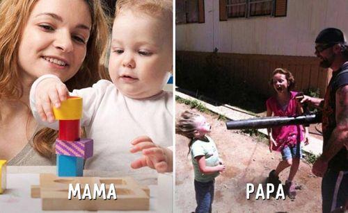 """Cười """"té ghế"""" sự khác biệt giữa cách trông con của bố và mẹ - Ảnh 7"""