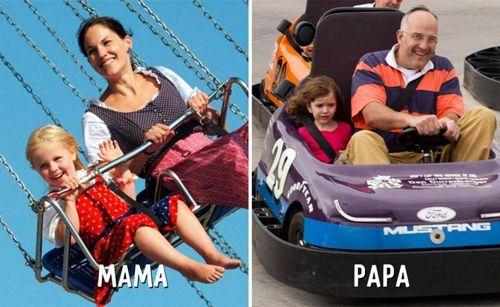 """Cười """"té ghế"""" sự khác biệt giữa cách trông con của bố và mẹ - Ảnh 10"""