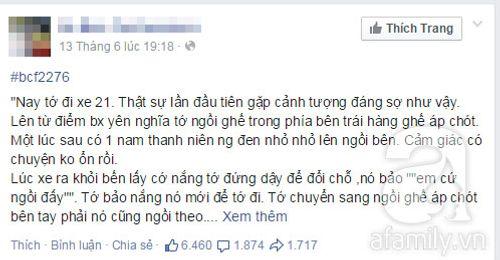 Facebook xôn xao chuyện nữ sinh bị quấy rối, giật điện thoại trên xe bus - Ảnh 1