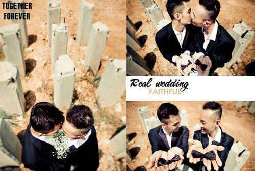 Ngắm ảnh cưới lãng mạn của các cặp đôi đồng tính - Ảnh 7