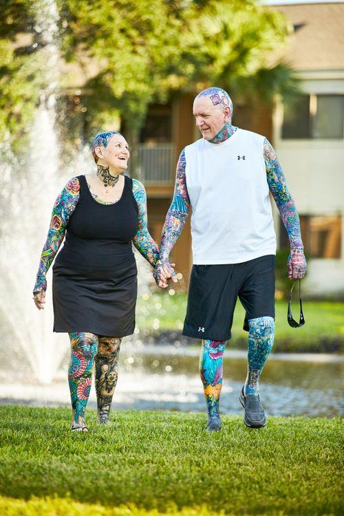 Cuộc gặp gỡ định mệnh của cặp đôi có nhiều hình xăm nhất thế giới - Ảnh 1