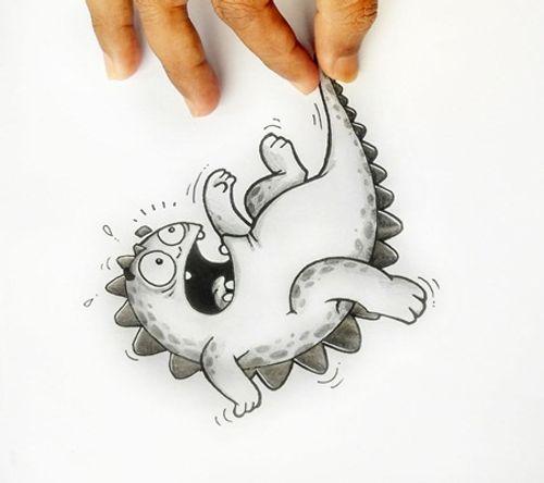 """Ngắm bộ tranh vẽ độc đáo về chú rồng """"siêu thực"""" - Ảnh 10"""