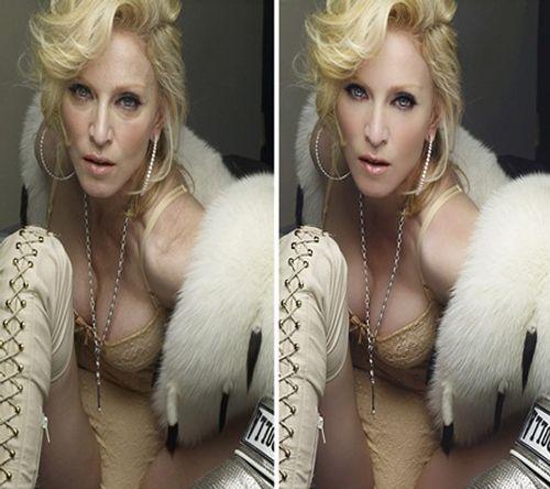 Bất ngờ loạt ảnh những người nổi tiếng trước và sau khi photoshop - Ảnh 2