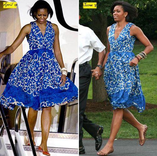 Đệ nhất phu nhân mượn váy... để giảm chi phí - Ảnh 1