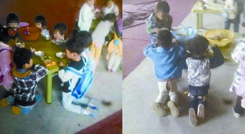 Trung Quốc dậy sóng dư luận với hình ảnh bắt trẻ mẫu giáo muốn ăn phải quỳ - Ảnh 1