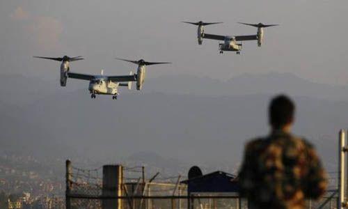 6 máy bay quân sự của Mỹ tham gia cứu trợ tại Nepal - Ảnh 1