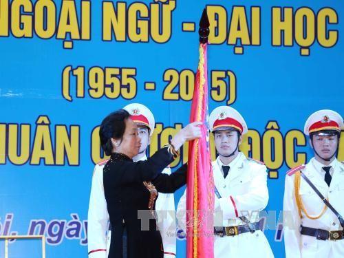 Trường ĐHNN - ĐHQG Hà Nội đón nhận Huân chương Độc lập hạng Nhất - Ảnh 1