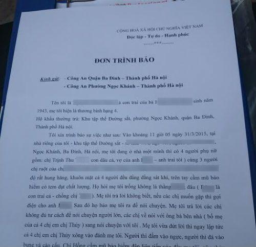 Sự thật vụ con dâu hành hung mẹ chồng ở Hà Nội - Ảnh 3